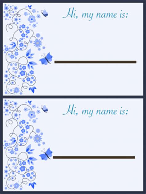 printable butterfly name tags butterfly name tags