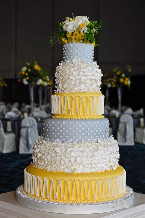 yellow and silver wedding cake gallery take the cake