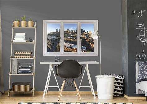 home decor boston boston skyline instant window wall decal shop fathead
