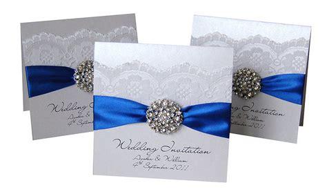 royal blue wedding invitations