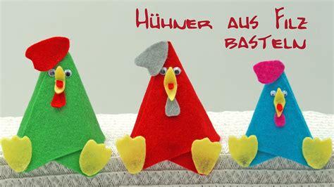 Filz Basteln Mit Kindern by Bunte H 252 Hner Aus Filz Basteln Zu Ostern Basteln Mit