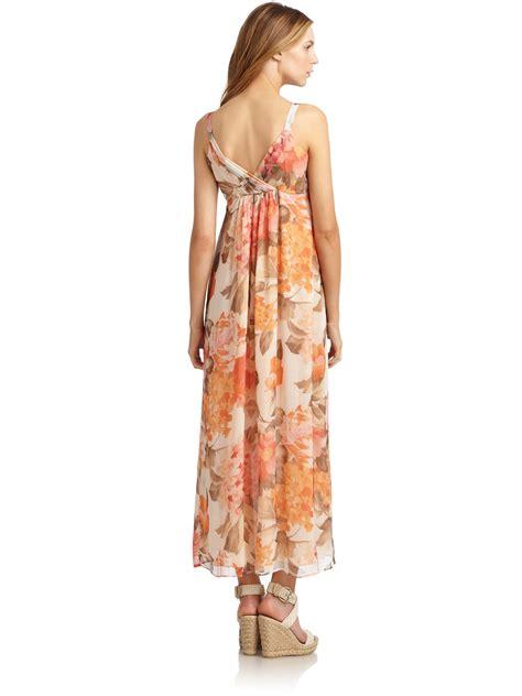 Lafayete Maxi lafayette 148 new york silk chiffon floral maxi dress in