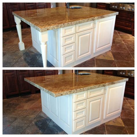 decorative kitchen islands kitchen island decorative legs or not