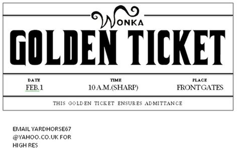 willy wonka ticket template photo