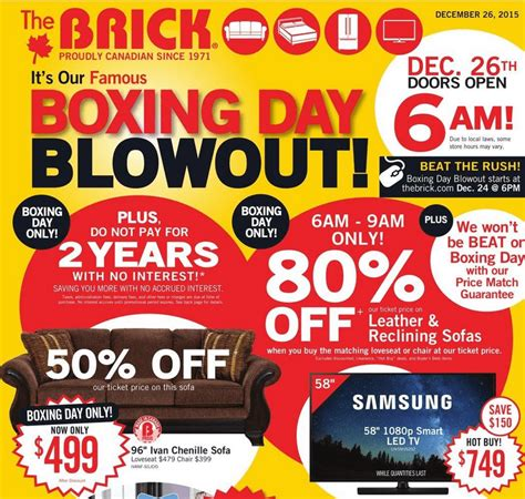 Loveseat For Dining Table The Brick Canada Boxing Day 2015 Deals Amp Flyer Sneak Peek