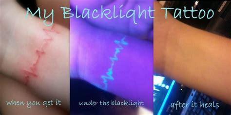 does glow in the dark tattoo ink fade black light tattoo tattoos pinterest black light