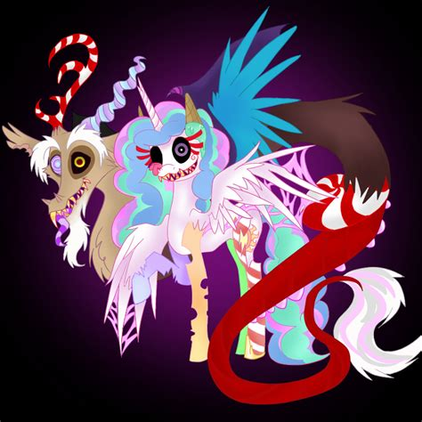discord zombies dislestia obsessed discord and celestia as candy zombies