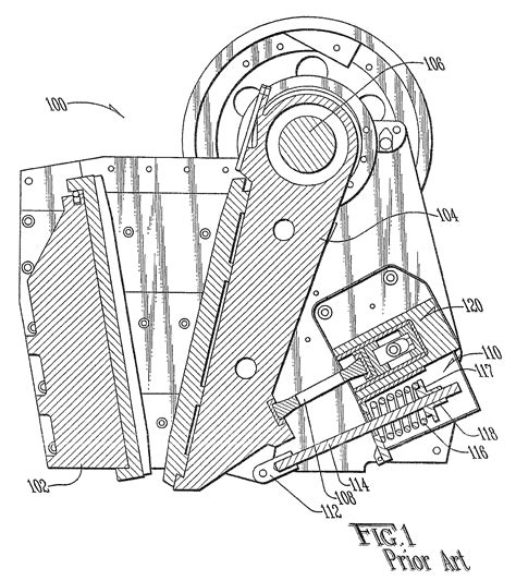 jaw crusher diagram patent us7510134 jaw type rock crusher with toggle plate