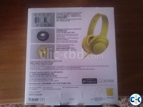 Sony 100 Aap sony mdr 100 aap hi res headphone yellow lime clickbd