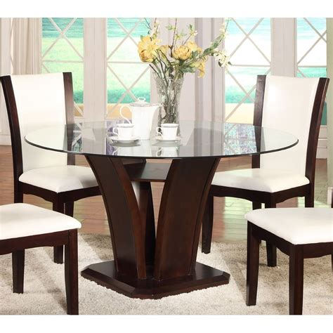 glass round dining room table round glass top dining table glass dining table round