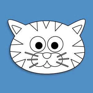 Cat Mask Template by Cat Mask Template From Masketeers Mask