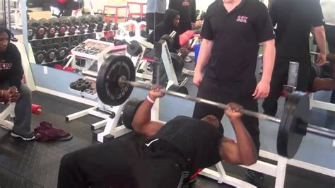 highest bench press in the nfl ray rice nfl combine bench press