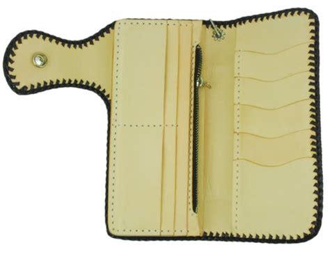 pattern of leather wallet biker wallet brown leather weave floral pattern tan