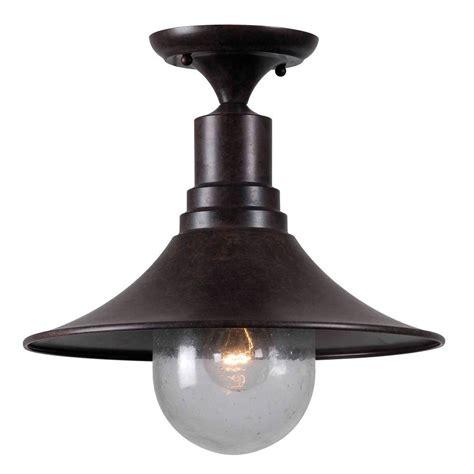 bronze semi flush mount light world imports brandon 1 light bronze semi flush mount