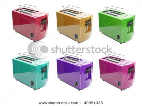 collage of six colored toasters all things toast