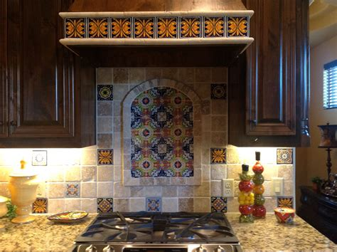 backsplash ideas mexican talavera backsplash for the home kitchens hacienda decor and condo kitchen