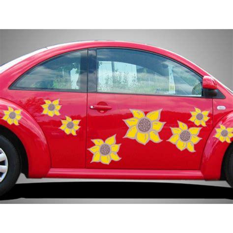 Blumenaufkleber Auto by Autoaufkleber Sonnenblume Dreifarbiger Blumenaufkleber
