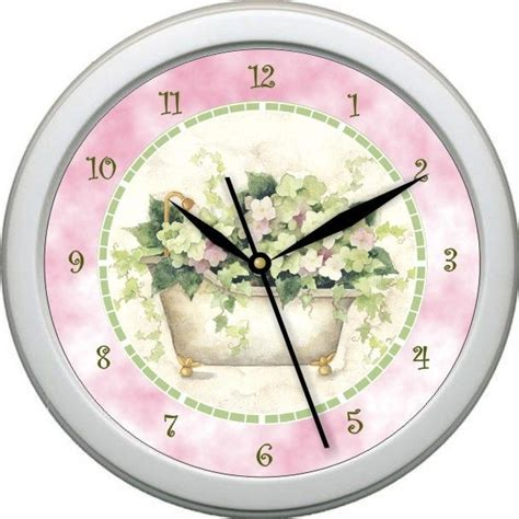 bathroom clock ideas personalized tub time 2 bathroom decor wall clock gift