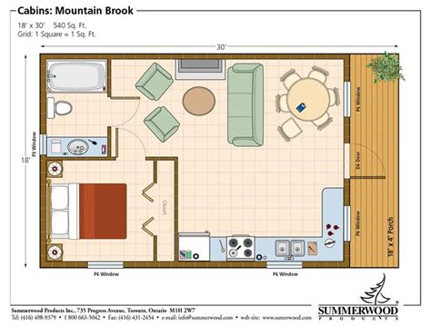 one bedroom cabin plans one room cabin floor plans studio plan modern casita