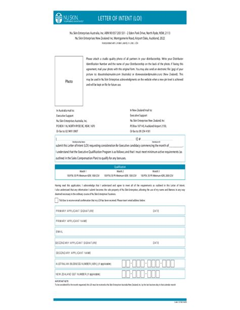 Letter Of Intent Template Nz letter of intent format sle free