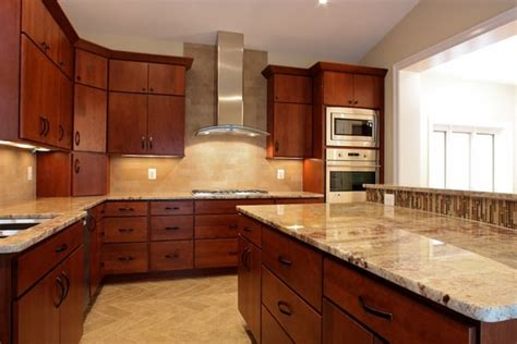 Granite With Cherry Cabinets In Kitchens Granite Kitchen Countertops Cherry Cabinets Best Home Decoration World Class