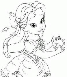 baby princesses disney dibujos la princesa bella pintar dibujos colorear la