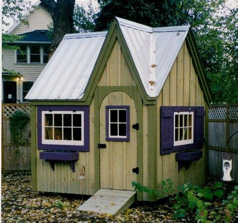 playhouse shed plans dollhouse garden shed diy plans 8x8 cottage playhouse