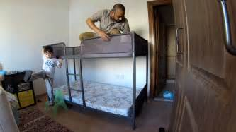 Ikea Loft Bed Frame Time Lapse Build Ikea Tuffing Bunk Bed Youtube