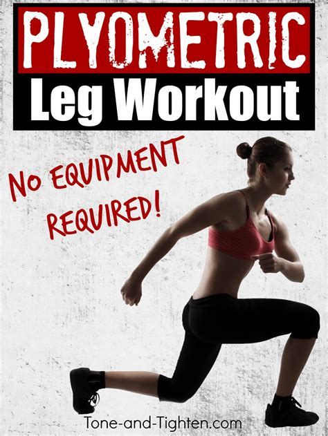 zero equipment plyometric leg workout tone and tighten