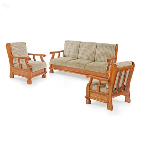 sofa set buy royaloak vita sofa set 3 1 1 teak from india s most affordable furniture brand