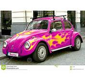 Pink Beetle Car Stock Photo Image Of Engine Motion