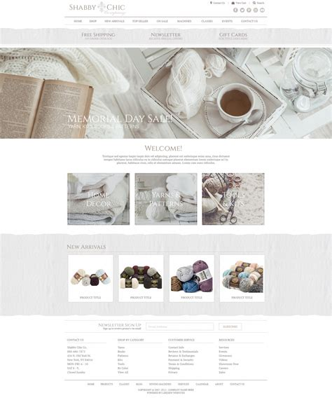 Responsive Template Designs Shabby Chic Websites
