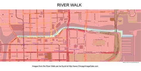 chicago riverwalk map chicago community area maps