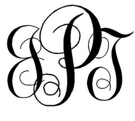 Free Monogram Templates Easy Diy Interlocking Script Monogram Project Wedding
