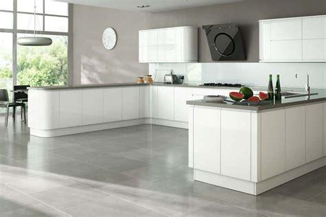 White Gloss Kitchen Cabinets by Gloss White Units Grey Worktops Kitchen