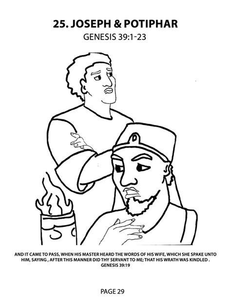 coloring page of joseph and potiphar joseph and potiphar coloring pages google search jose