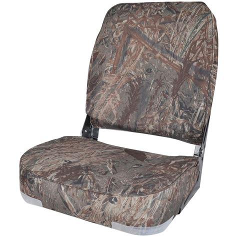 duck boat chair high back fold camo boat seat 640163 fold