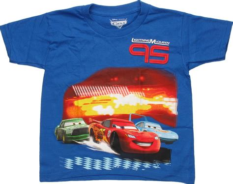T Shirt Oskh 95 Blue cars lightning mcqueen 95 blue juvenile t shirt