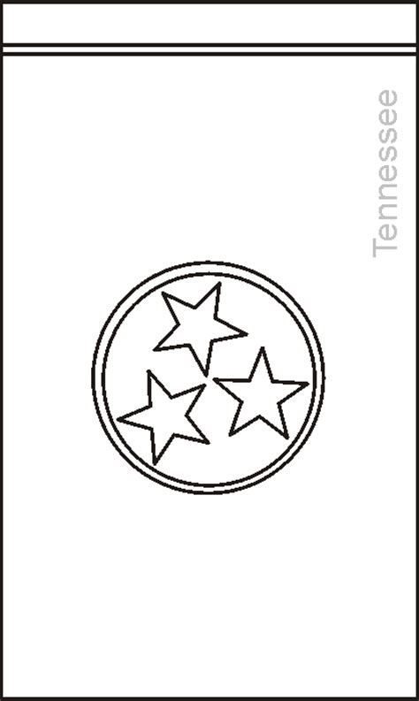tennessee state flag coloring pages usa for kids