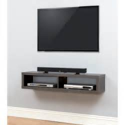 component shelves for wall mount tv martin home furnishings 48 quot shallow wall mounted tv