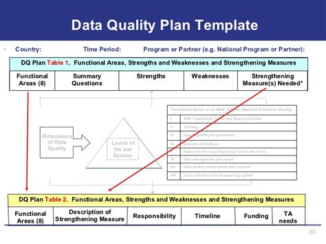 Data Quality Strategy Template assessing m e systems for data quality