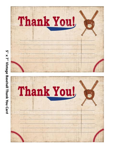 Baseball Thank You Card Template by Baseball Thank You Card Baseball Baby Shower Thank You Card