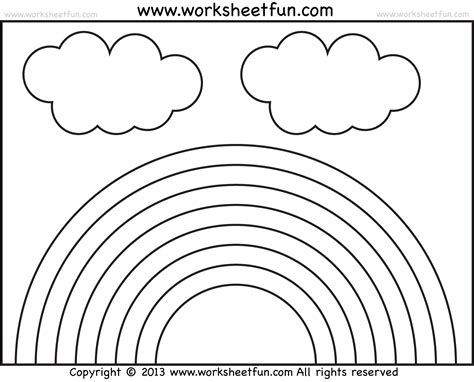 rainbow coloring page kindergarten best photos of rainbow color worksheets for kindergarten