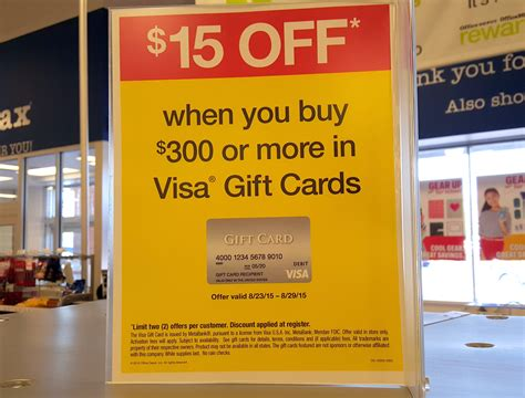 Officemax Visa Gift Card Promotion - 15 instant rebate on 300 in visa gift cards at officemax frequent miler