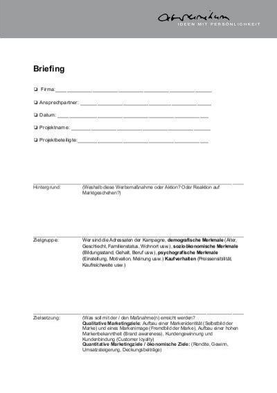 Angebot Fotoshooting Vorlage briefing vorlage arsunikum