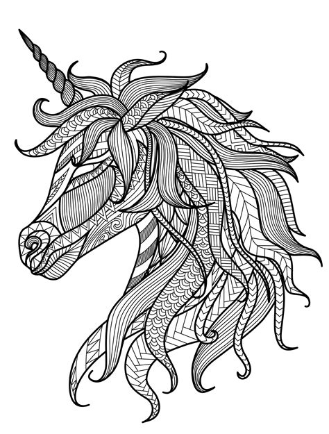 free printable coloring pages for adults unicorns 20 gorgeous free printable adult coloring pages page 5