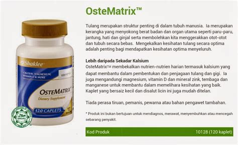 Vitamin Ostematrix Health Basics Ostematrix Lebih Dari Calcium