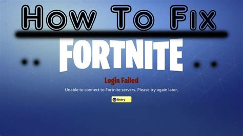 fortnite  connect  servers fix working ps xbox