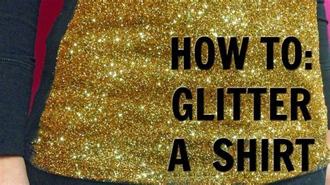 HOW TO: Glitter a Shirt   YouTube