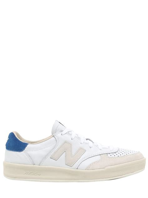 new balance leather sneakers new balance crt300 leather sneakers in white for lyst